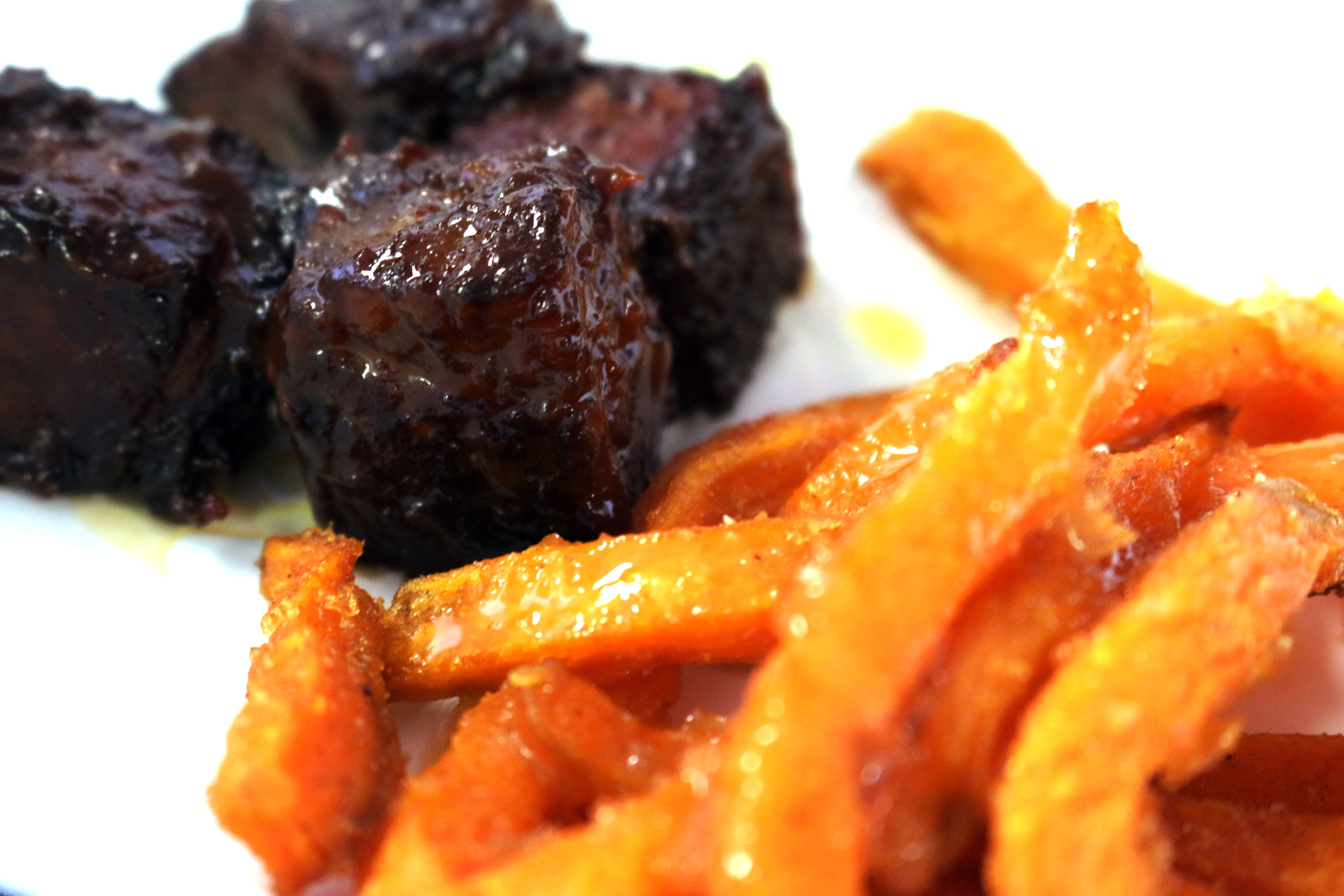 Brisket Ends & Sweet Potato Fries
