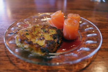 Butternut Squash Latke w/ House Cured Gravlax