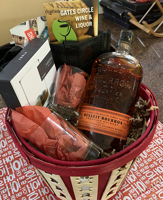 Custom Wine & Liquor Gift Basket with Baileys Liqueurs from Gates Circle Wine & Liquor